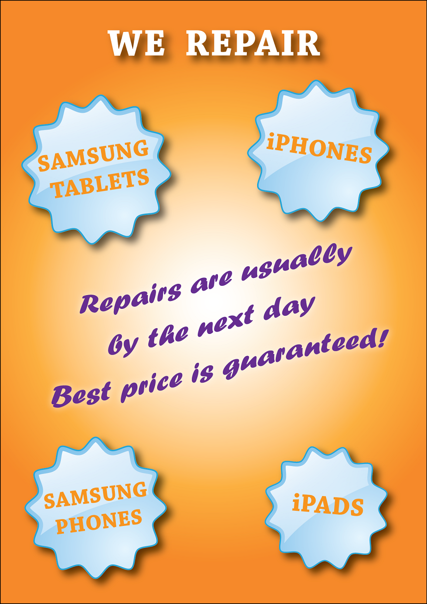 Poster design on ipad - Poster Design By Angel_of_avalon For Poster To Advertise That We Repair Iphone Ipad Samsung
