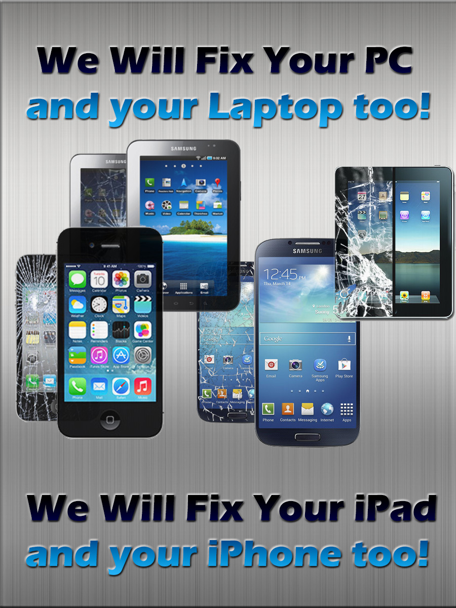 Poster design on ipad - Poster Design By Quentinharris7 For Poster To Advertise That We Repair Iphone Ipad Samsung