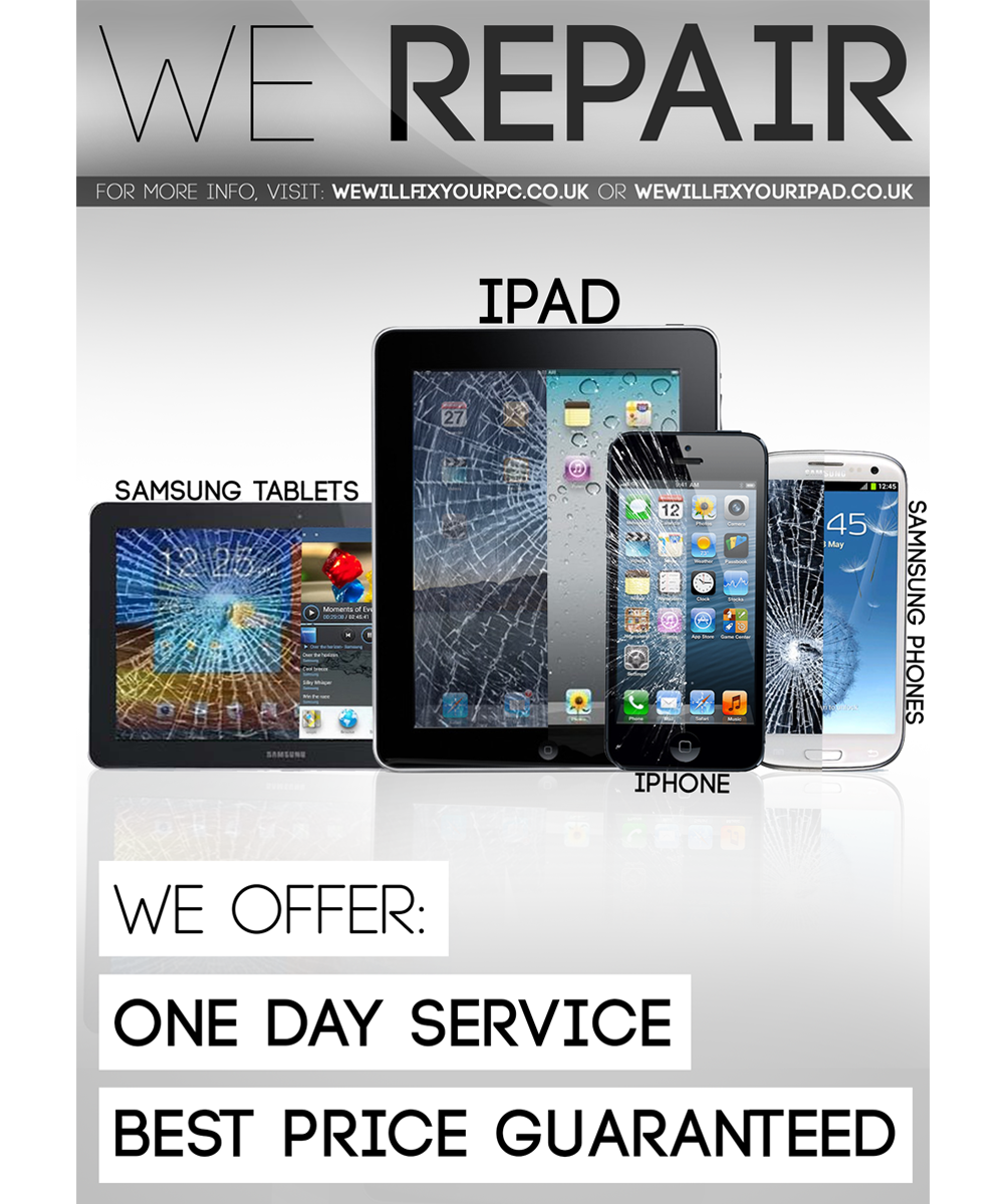 Poster design on ipad - Poster Design By Viralmedia For Poster To Advertise That We Repair Iphone Ipad Samsung