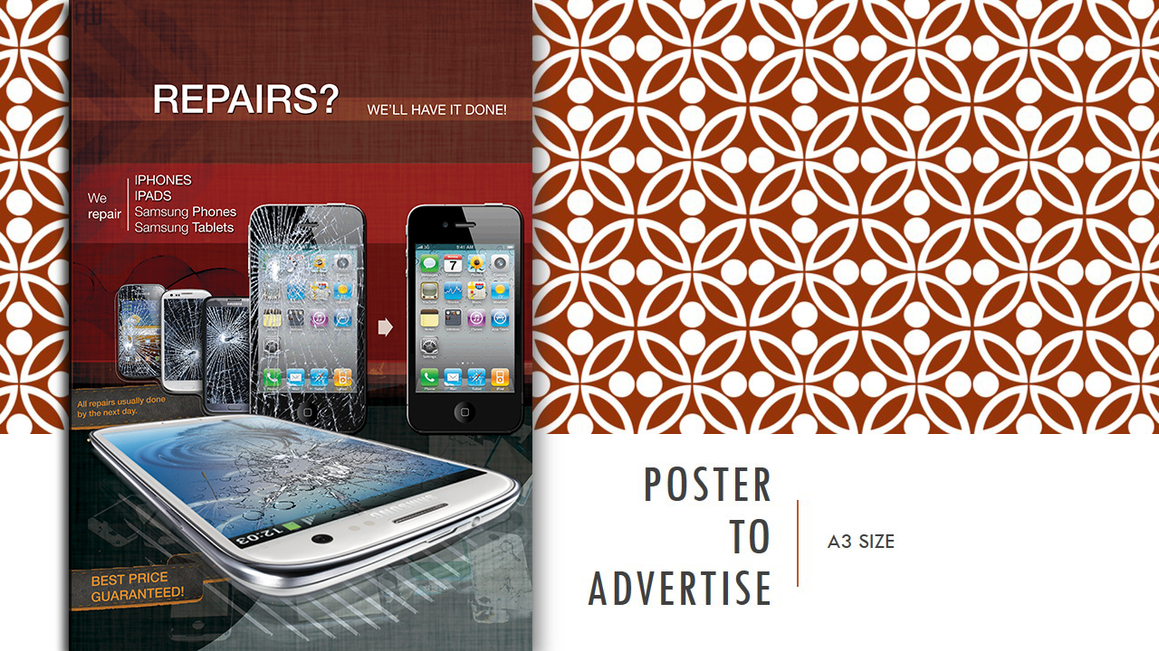 Poster design on ipad - Poster Design By Nomadbogs For Poster To Advertise That We Repair Iphone Ipad Samsung