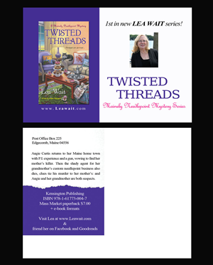 Postcard Design by NatPearlDesigns - Postcard Design for Twisted Threads