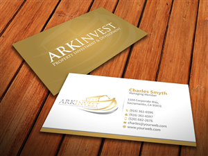 Business Card Design by MediaProductionArt - Investment Company Business Card Design