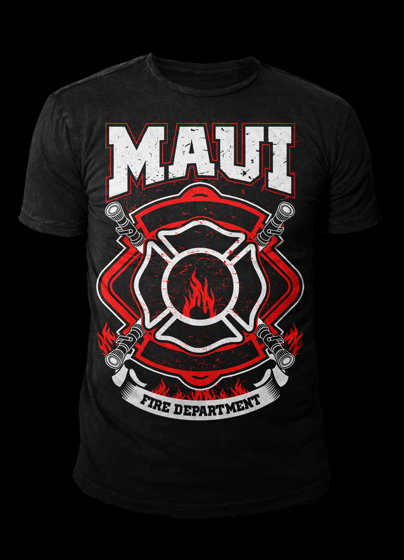 Fire Department T Shirt Design For A Company By Kid Ink Design