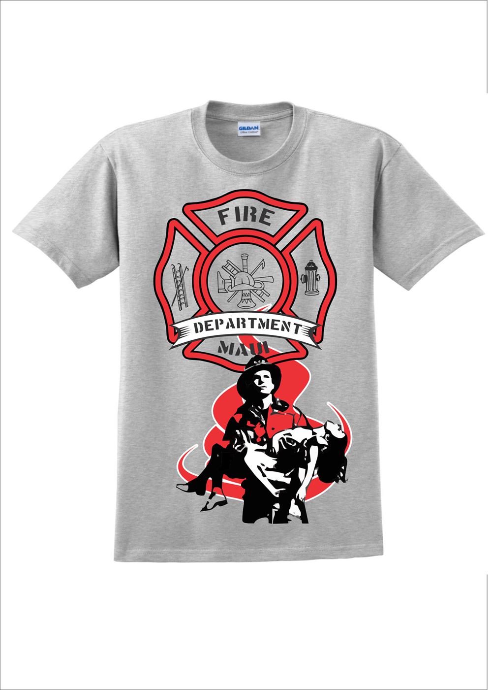 Fire department t shirt design for a company by awehh for Fire department tee shirt designs
