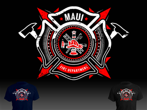 Fire Department T Shirt Design For A Company By Aurelio Creatives
