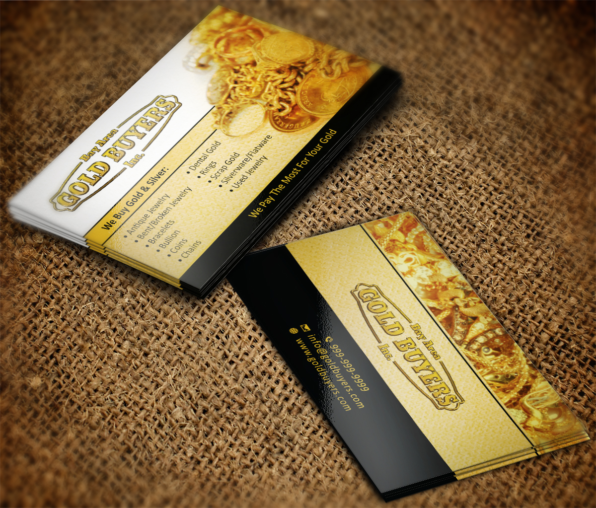 Gold Buyer Business Card | 78 Business Card Designs for sean