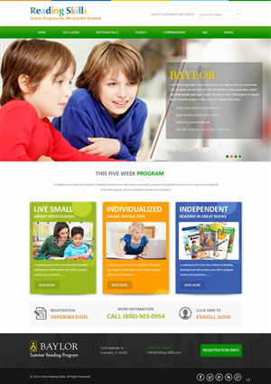 Web Design by pb - New homepage concept needed for online reading ...