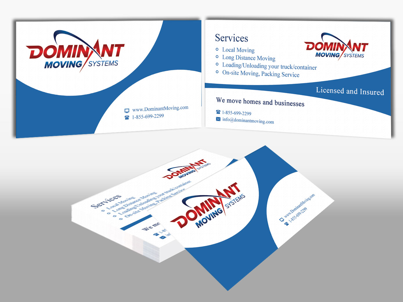 Business Business Card Design for Dominant Moving Systems by Pawana ...