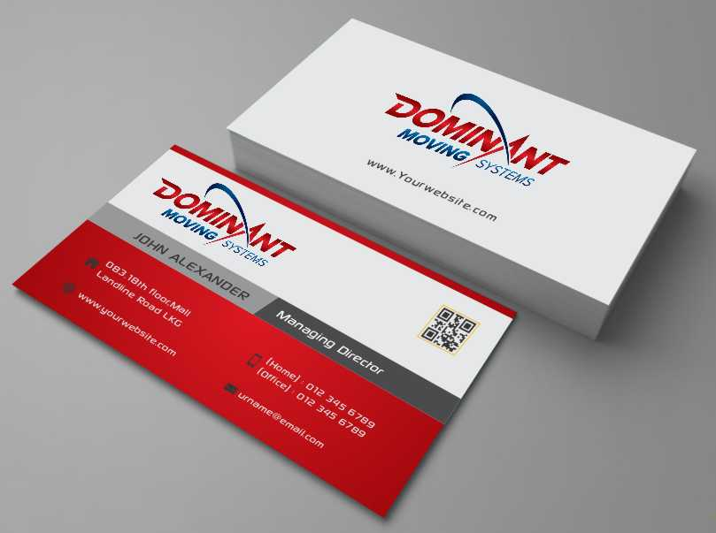 Business Business Card Design for Dominant Moving Systems by AwsomeD ...