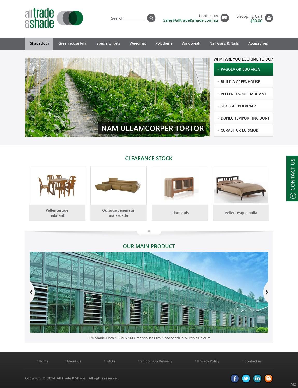 Modern masculine web design for michael fakes by pb for Masculine web design