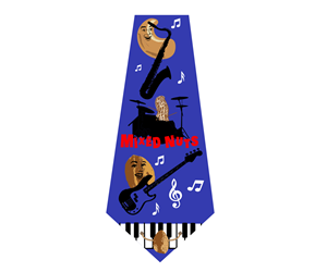 Graphic Design by Thomas DeHart - Mixed Nuts Band - Necktie Design