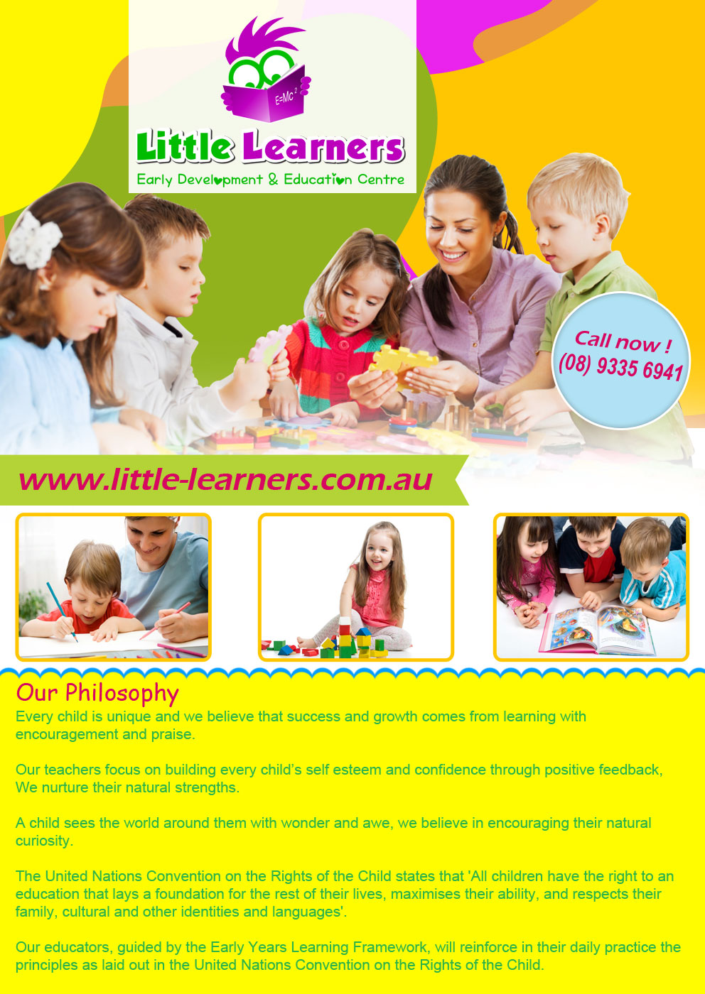 child care flyer design