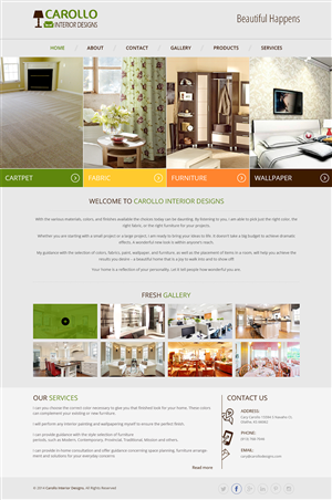 Web Design by creativewebdesignideas.com - Web Design Project