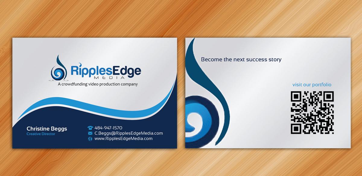 Upmarket, Elegant Business Card Design for Ripples Edge by ...