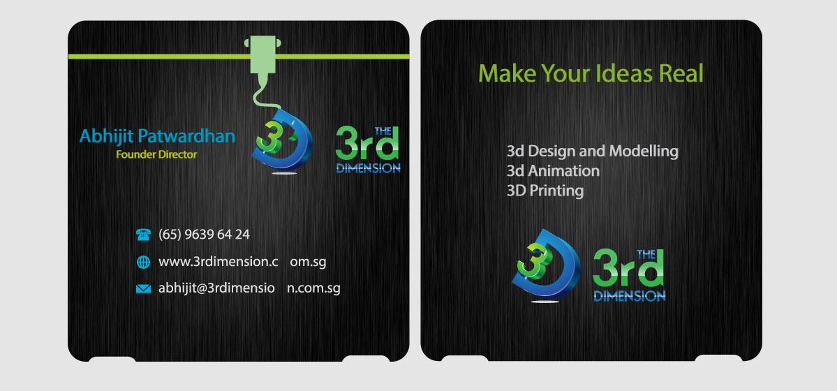 Design De Carte Visite Amusant Fminin Printing Pour The 3rd Dimension Pte Ltd En Aux Singapore