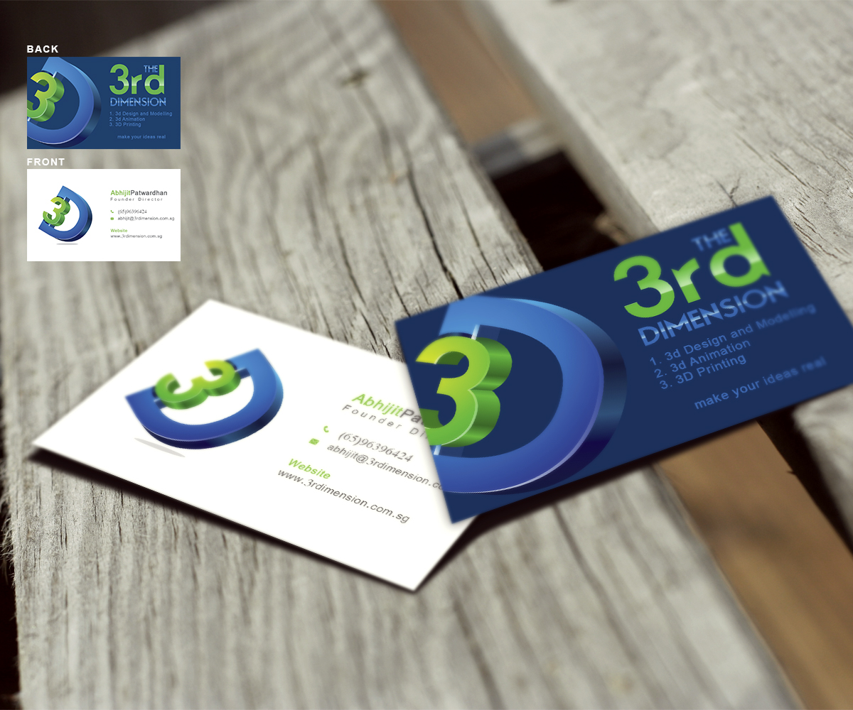 Playful, Feminine, Printing Business Card Design for The 3rd ...