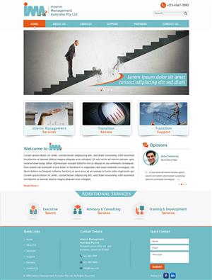 Web Design by smart - Website design for Interim Management Australia...