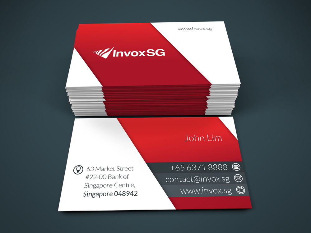 Modern, Serious Name Card Design For Company In Singapore | Design 4582763