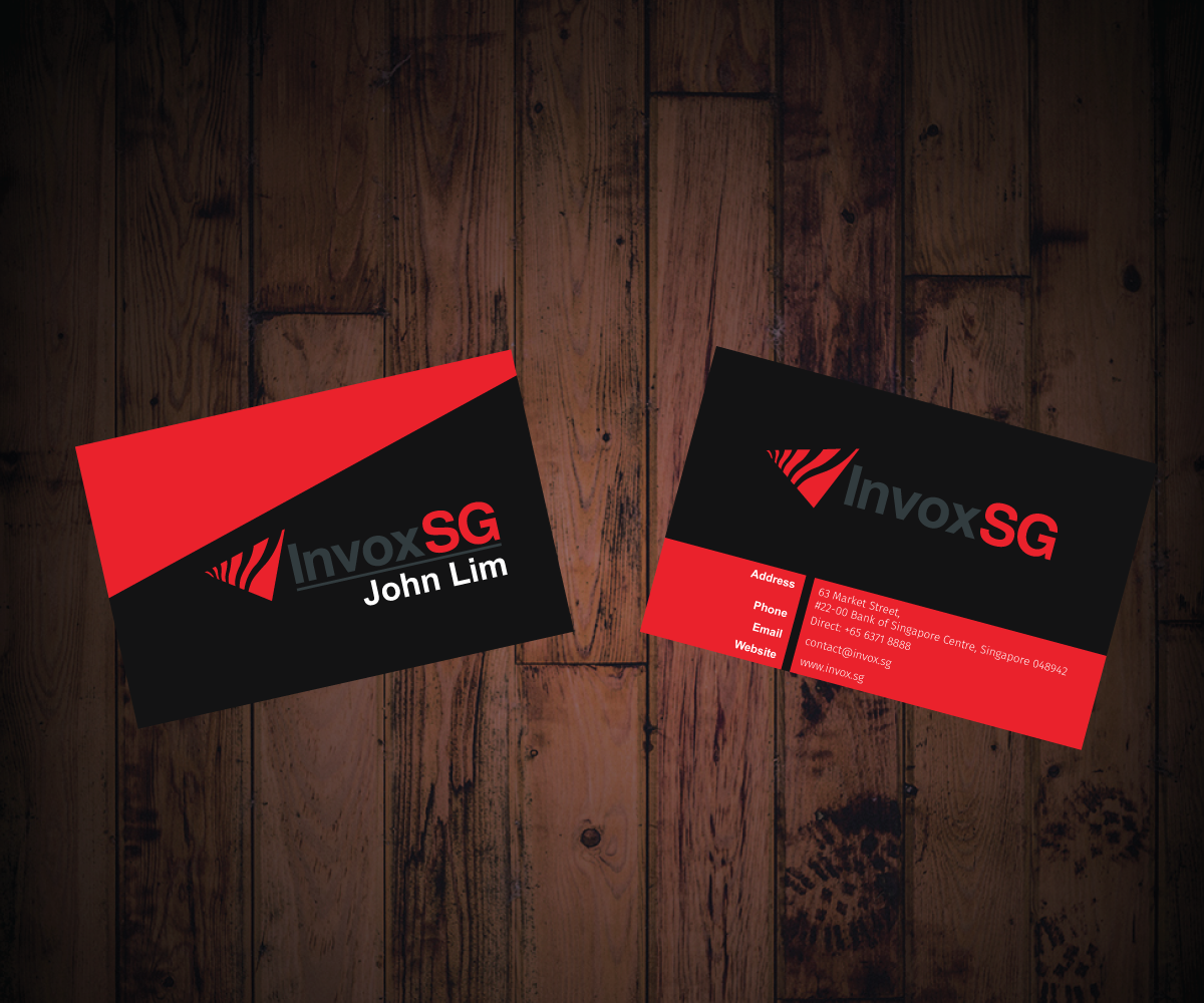 modern serious financial name card design for a company