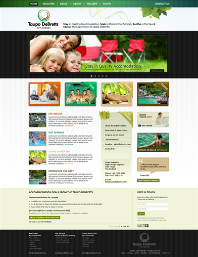 Bed And Breakfast Taxi Website Design 217633