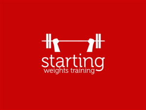 Logo Design job – Starting Weights Training – Winning design by PixelHerePixelThere