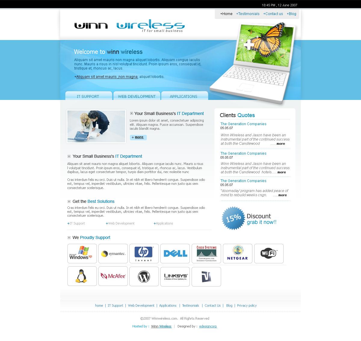 Professional masculine contractor web design for a for Masculine web design
