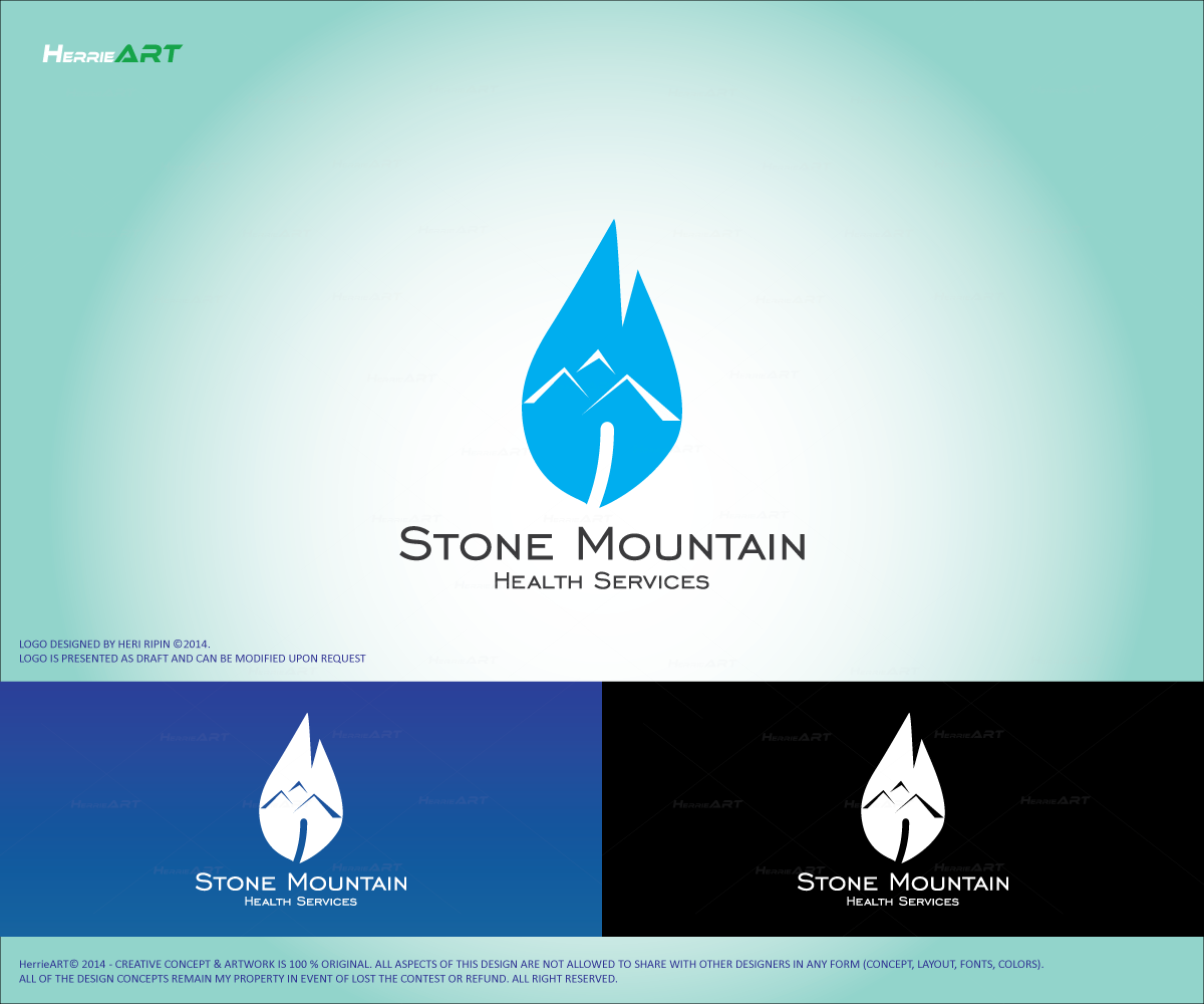 Medical Logo Design For Stone Mountain Health Services By Heri Ripin