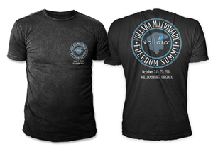 T-shirt Design by swo0osh - Vollara Millionaire Freedom Summit - 2014
