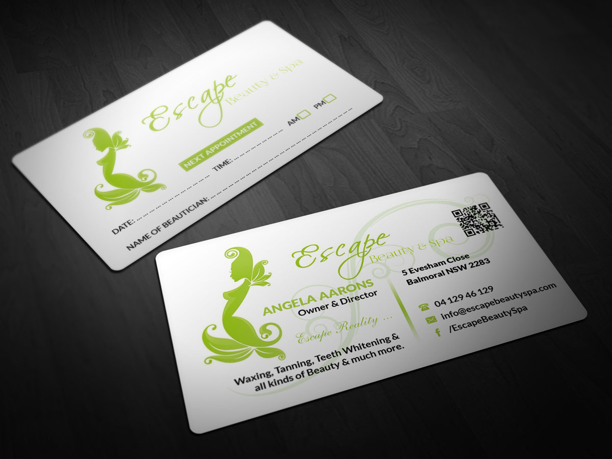 Salon Business Card Design for a Company by Pointless Pixels India ...