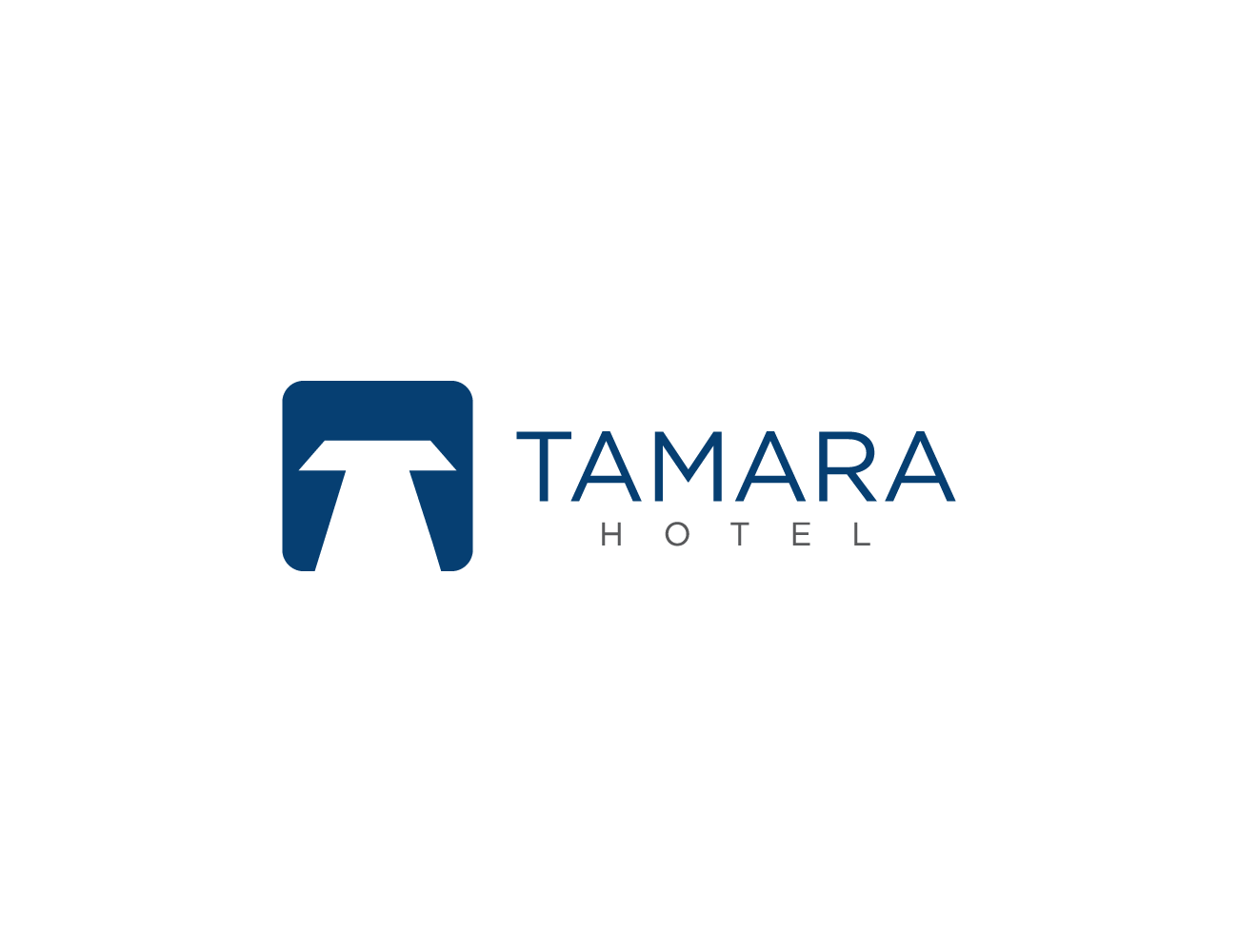 Hotel logo design for hotel tamara by en drow design for Hotel logo design