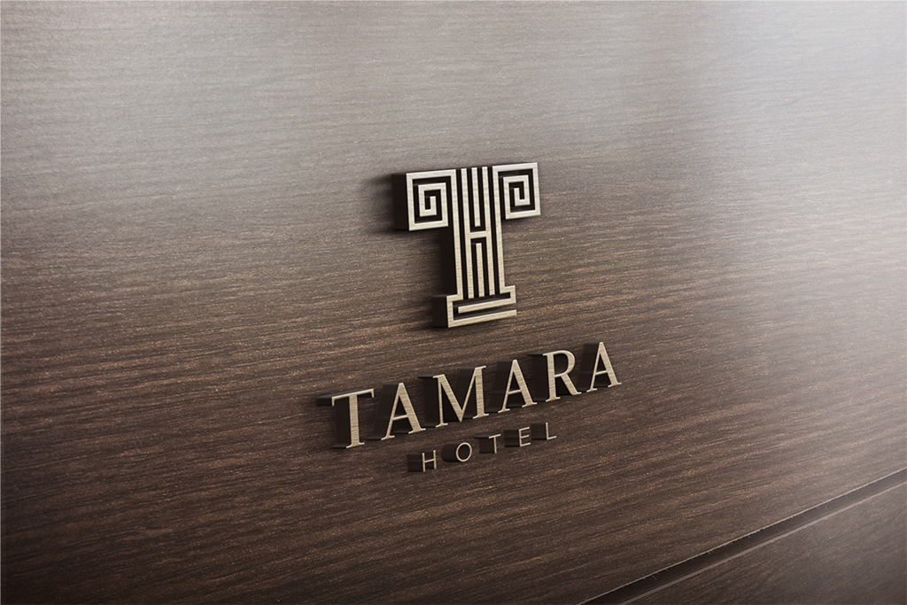 Hotel logo design for hotel tamara by catalogo design for Hotel logo design