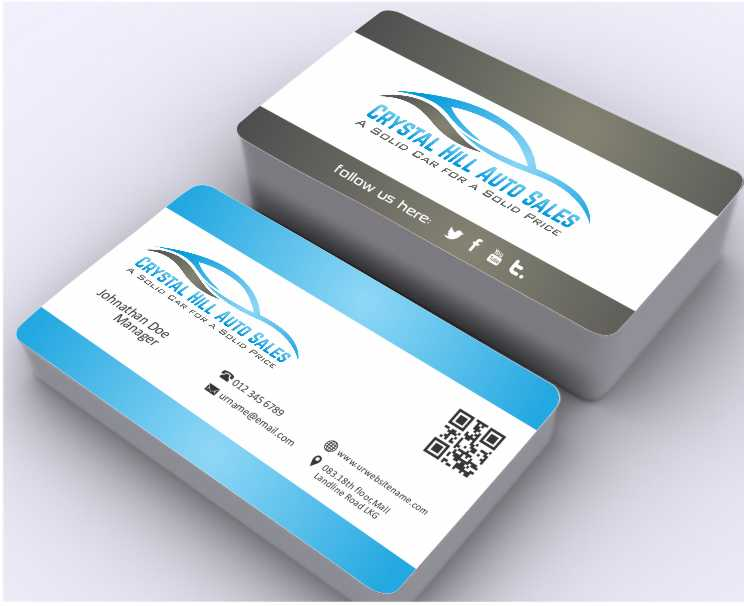Business Card Design By Awsomed For Used Car 4570642