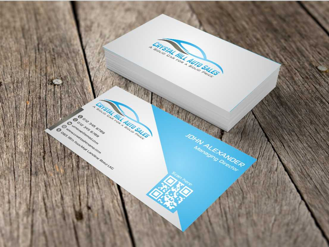 Business Card Design By Awsomed For Used Car 4570645