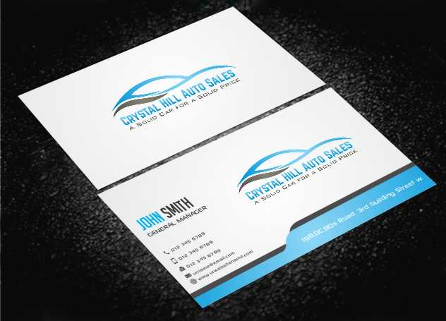 Business Card Design By Awsomed For Used Car 4570660