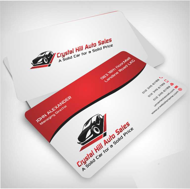 Business Card Design By Xtremecreative45 For Used Car 4570367