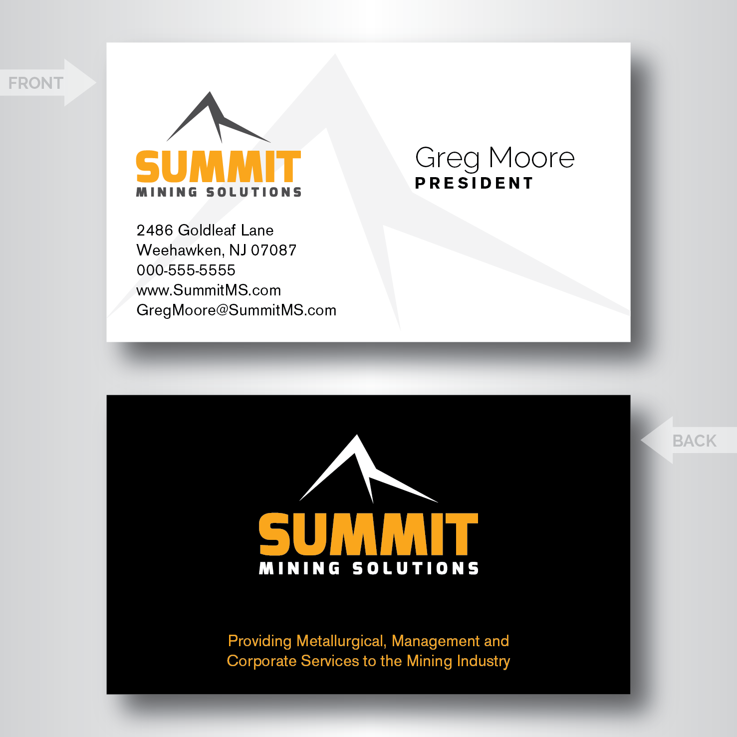 Mining business card design for a company by dotnot design 4673236 business card design by dotnot for this project design 4673236 reheart Choice Image