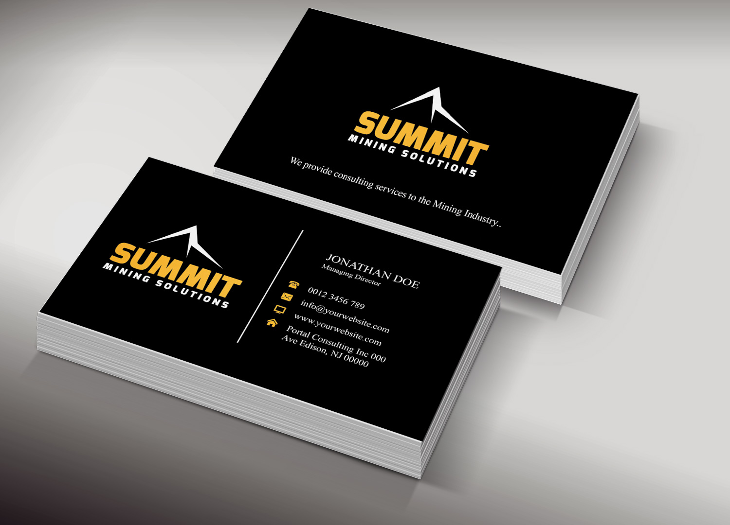 Mining Business Card Design for a Company by Creation Lanka | Design ...