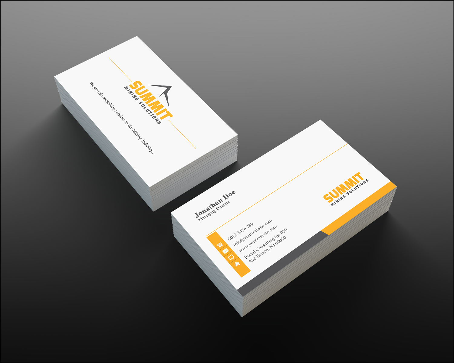 Mining business card design for a company by creation lanka design business card design by creation lanka for this project design 4675252 reheart Image collections