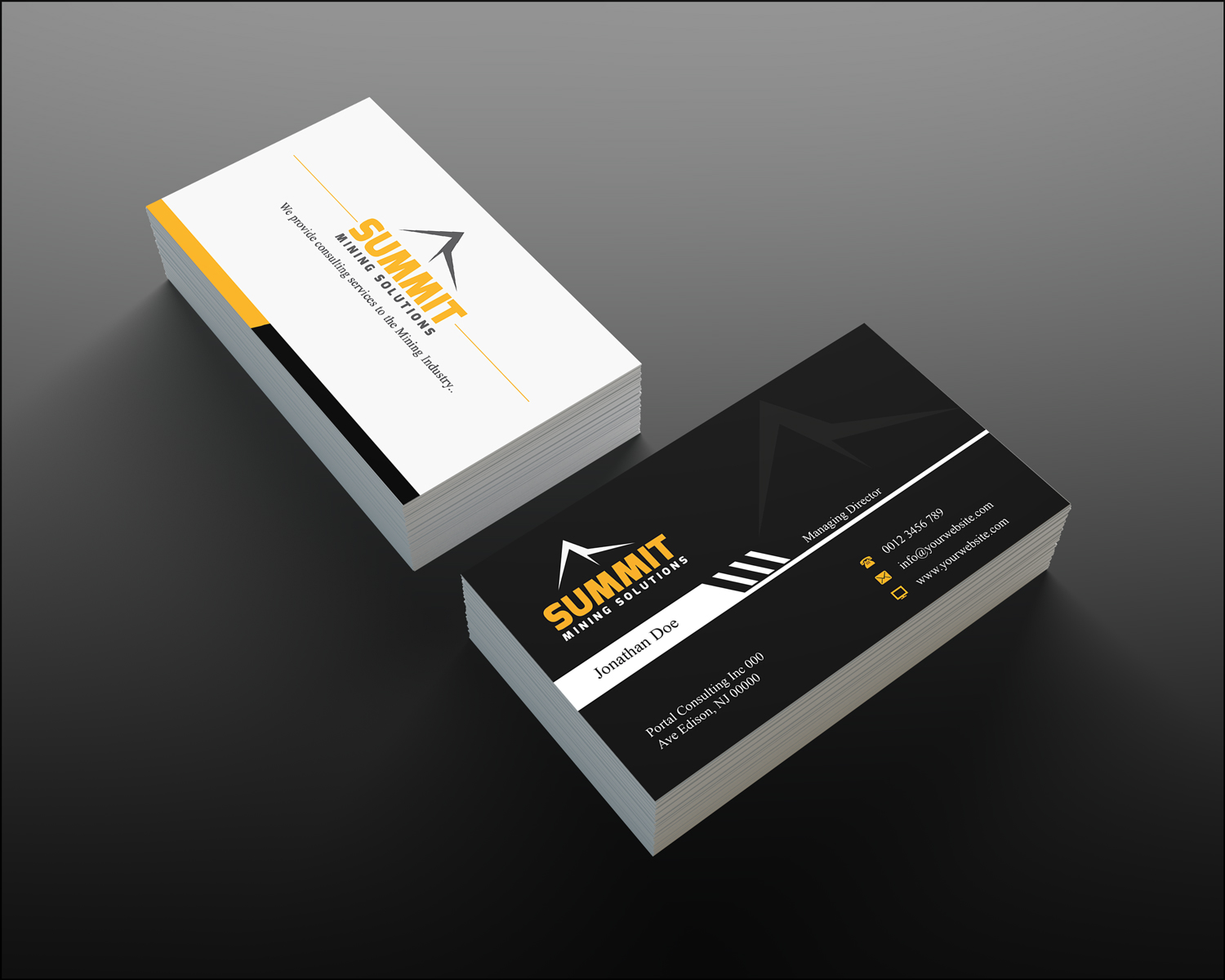 Mining business card design for a company by creation lanka design business card design by creation lanka for this project design 4675256 colourmoves