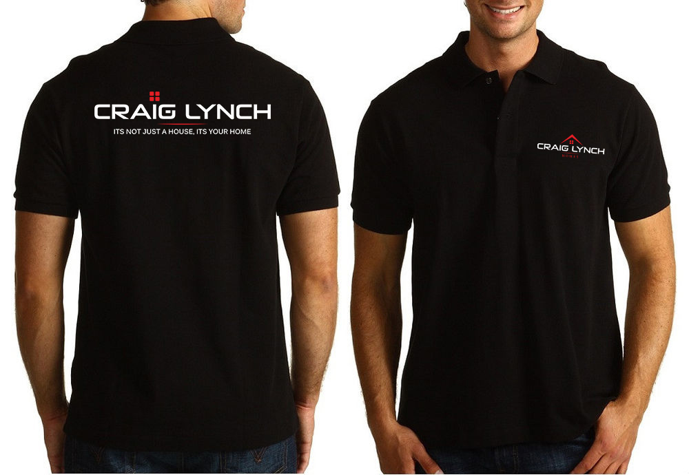 Professional upmarket t shirt design for craig lynch by for Corporate polo shirts with logo