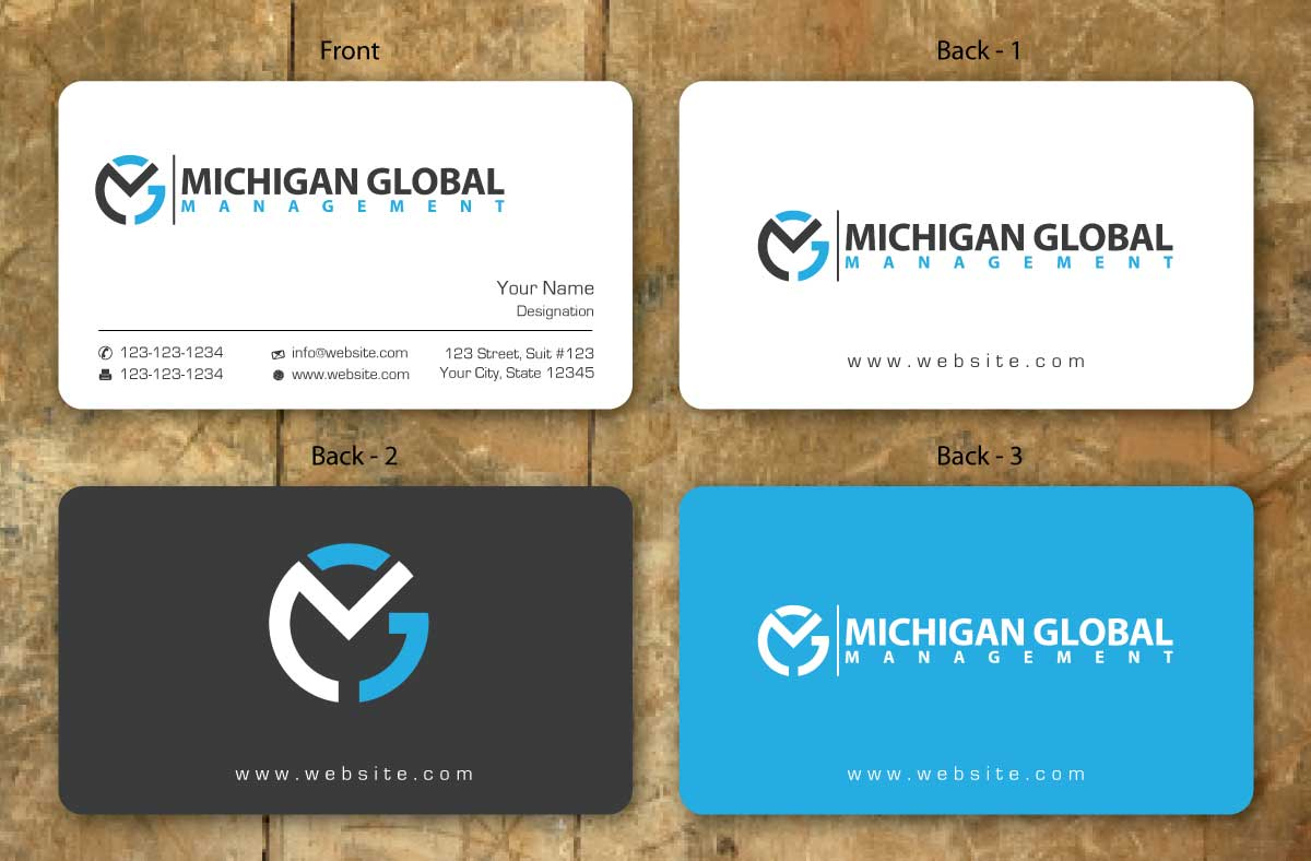 Property management company business cards business card for Business card management