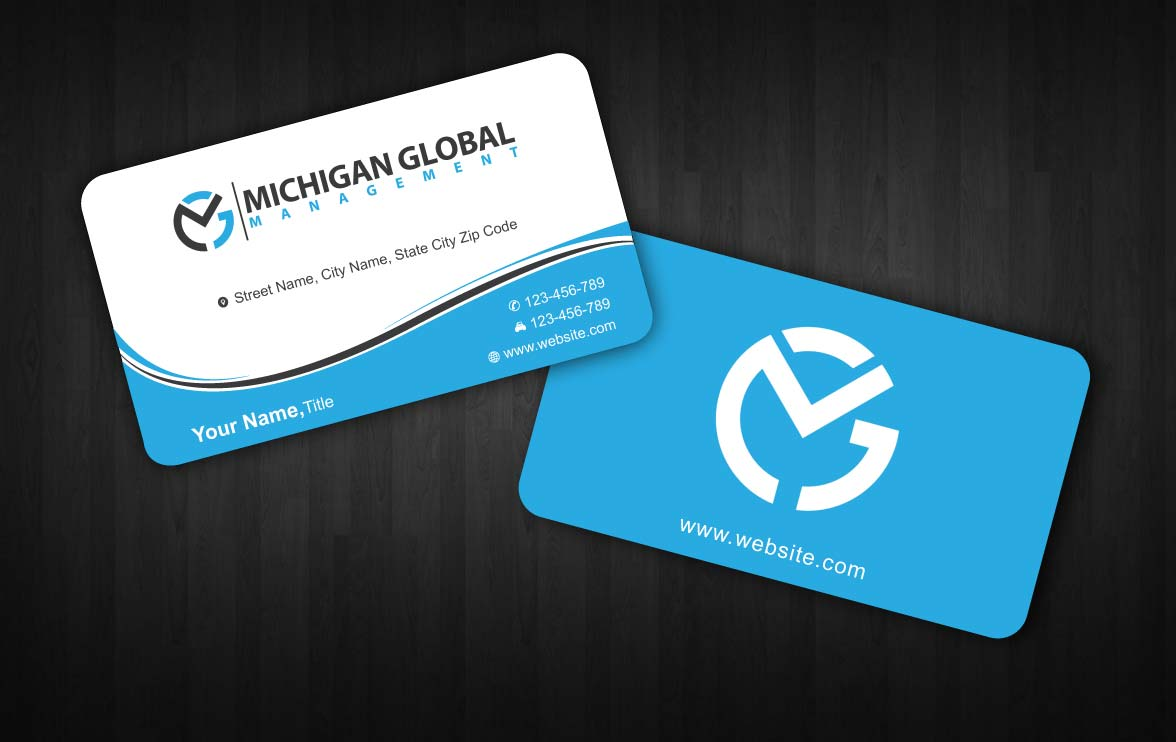 Elegant playful property management business card design for business card design by sbss for michigan global design 1300783 colourmoves