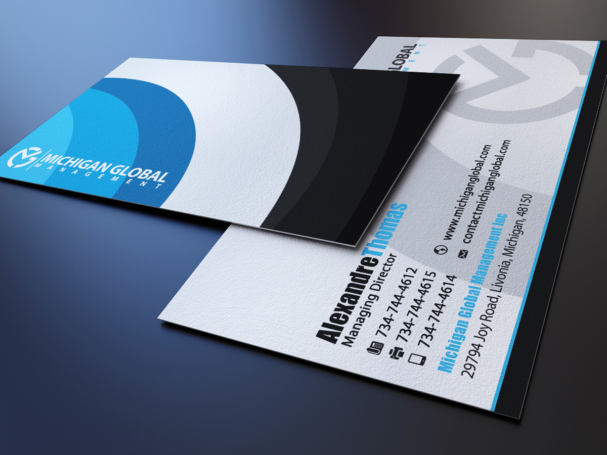 Elegant playful property management business card design for business card design by marvel medias for michigan global design 1298263 colourmoves