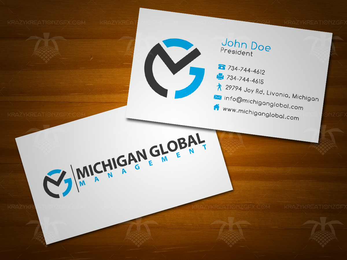 Elegant playful property management business card design for business card design by krazy kreationz gfx for michigan global design 1307832 colourmoves