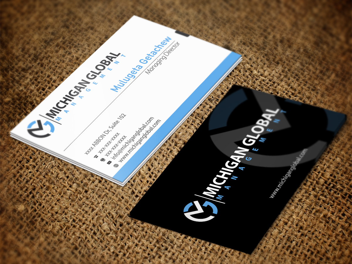 Elegant playful property management business card design for business card design by zoe studio for michigan global design 1313209 colourmoves