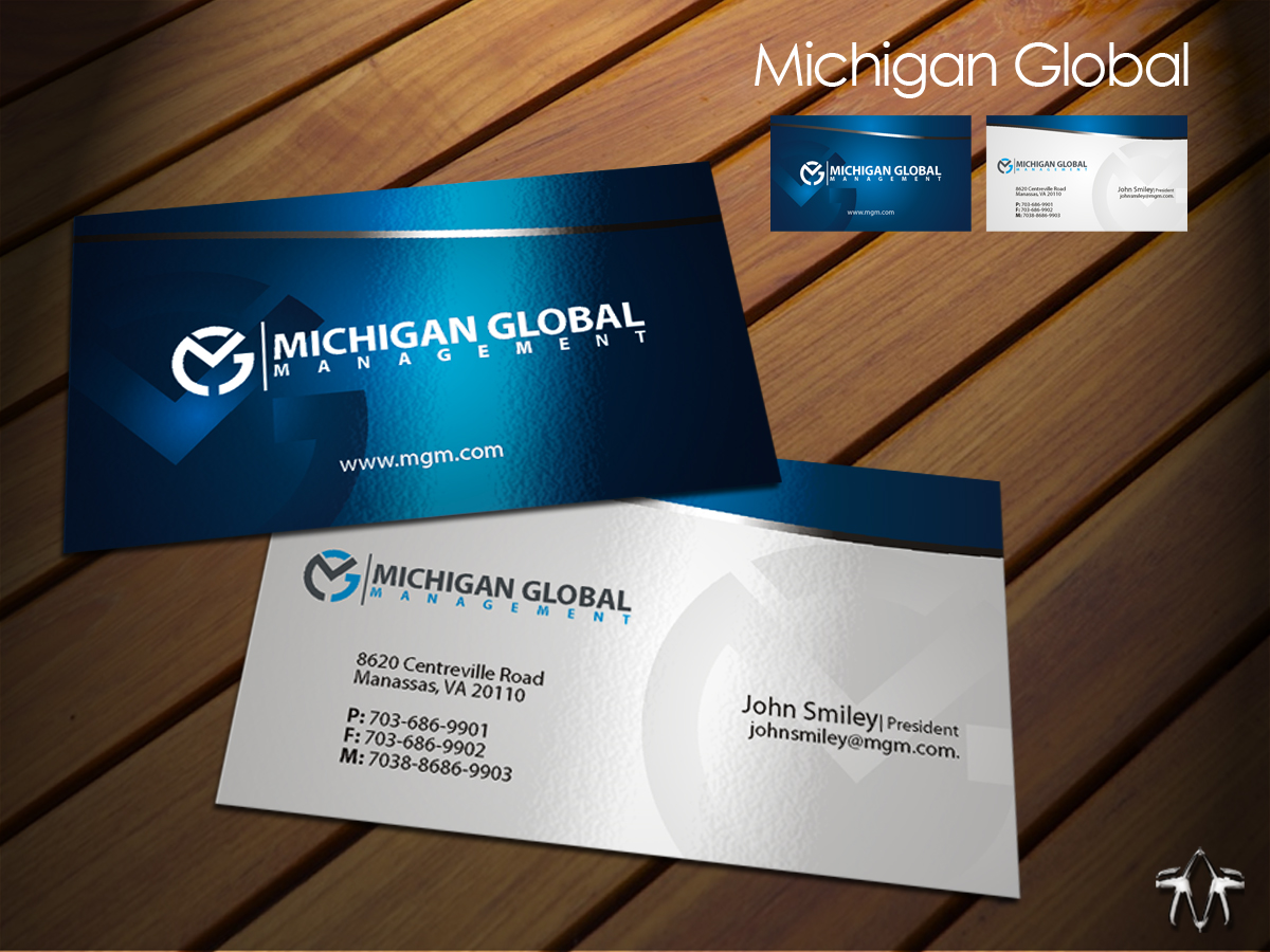Elegant playful property management business card design for business card design by sadzip for michigan global design 1306051 colourmoves