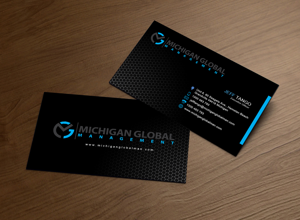 215 elegant business card designs property management business business card design by rhythmgraphics for michigan global design 1296446 colourmoves