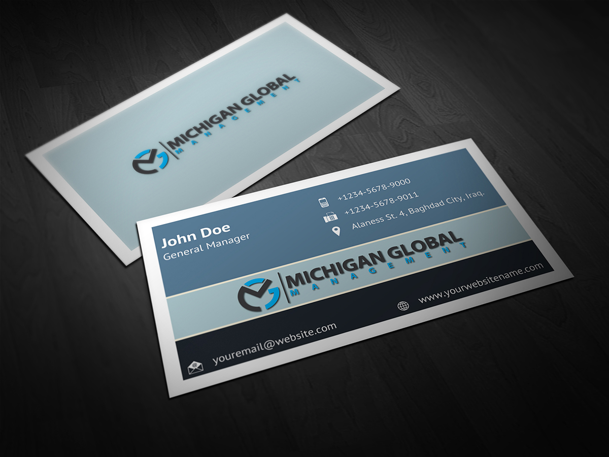 Business Card Design By Owpictures For Michigan Global 1307368