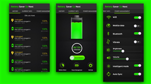 App Design by fueldesignyard - Android Battery Saver App UI design.