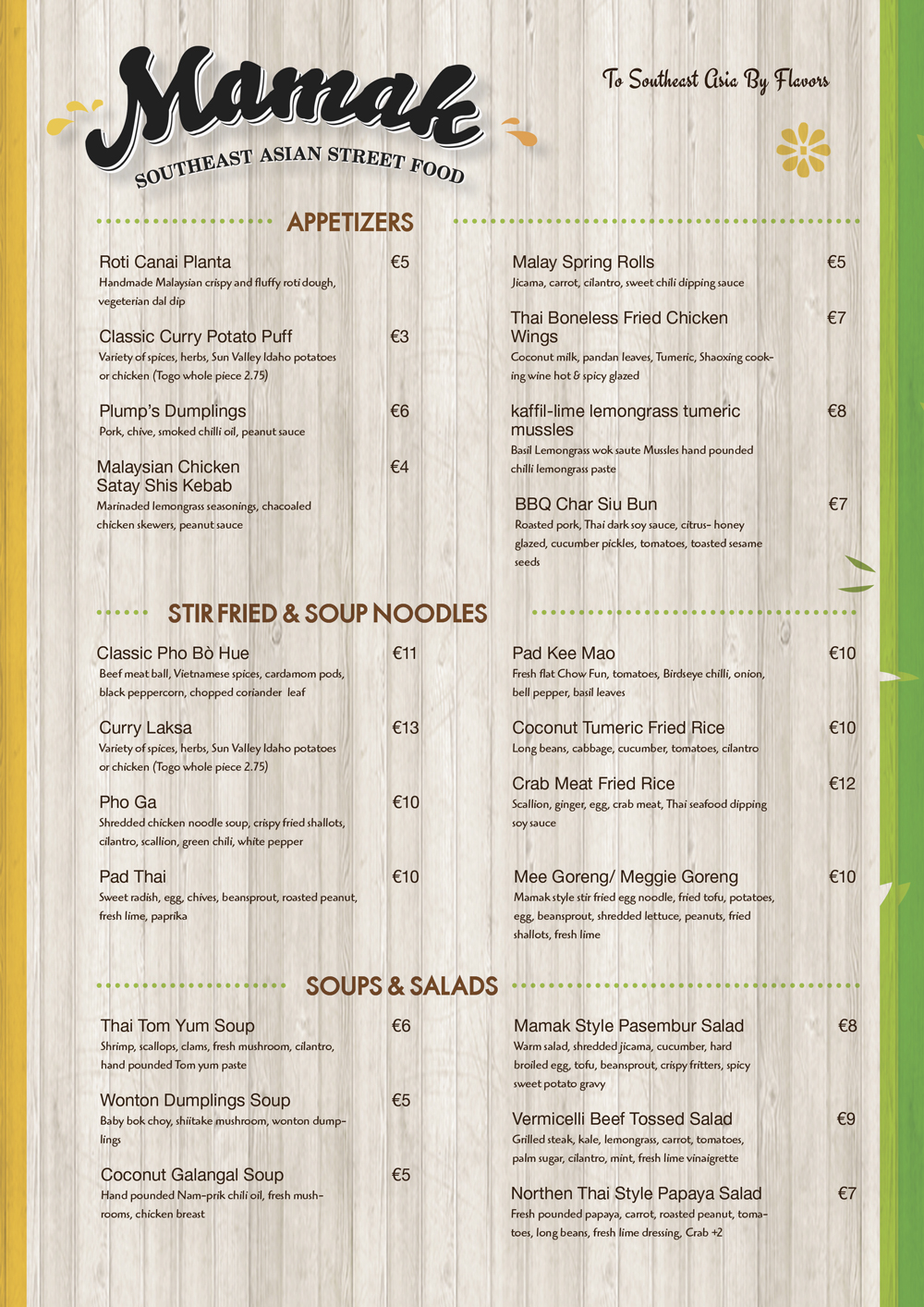 serious conservative menu design for a company by marcia2 design
